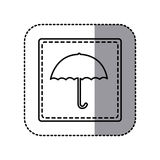 Figure emblem umbrella icon Royalty Free Stock Images