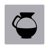 Figure emblem water pitcher icon. Illustraction design Royalty Free Stock Photos