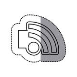 Figure emblem wifi icon Stock Photography