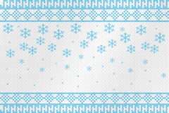 Figure embroidered cross on a rough cloth. Snowflakes and patterns. Vector illustration. Royalty Free Stock Images
