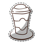 Figure espresso coffee image icon Royalty Free Stock Photo