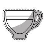 Figure espresso glass icon design Stock Photo