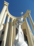 Figure et colonnes romaines Photographie stock libre de droits