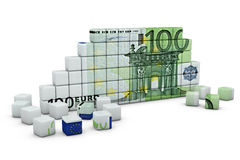 The figure of a euro. The figure of the cubes in the shape of a euro Stock Image