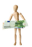Figure, euro, un Images libres de droits