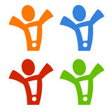 Figure_exclamation Royalty Free Stock Images