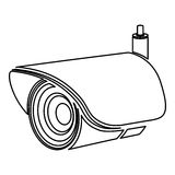 Figure exterior video camera icon. Illustration design Royalty Free Stock Photos
