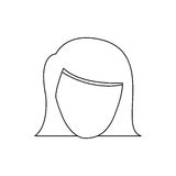 Figure face formal woman icon Royalty Free Stock Photos