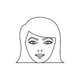 Figure face formal woman icon Royalty Free Stock Images