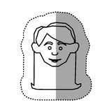 Figure face happy woman icon. Illustraction design image Royalty Free Stock Image