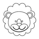 Figure face lion icon. Illustration design image Royalty Free Stock Images
