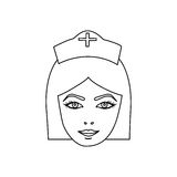 Figure face nurce icon image Royalty Free Stock Images