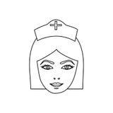 Figure face nurce icon image. Illustration desig Royalty Free Stock Images