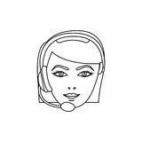 Figure face woman technological services icon. Illustration design Royalty Free Stock Photography