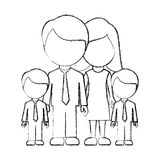 Figure family their boys twins icon Stock Photo
