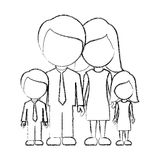 Figure family with their children icon Stock Photo
