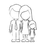 Figure family with their dougther icon. Illustraction design Stock Photography