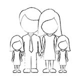 Figure family their girls twins icon. Illustraction design Stock Images