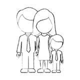 Figure family with their son icon Stock Photos