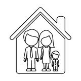 Figure family together icon Royalty Free Stock Photography