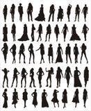 Figure femminili di vettore Immagini Stock Libere da Diritti