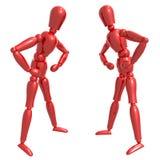 Figure fictive poupée confrontant la pose Image libre de droits