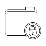 Figure file data center security. Icon,  illustration Stock Photo