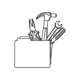 Figure file with tools icon. Illustraction design Stock Images