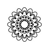 Figure flower with abstract petals icon. Illustraction design Stock Photography