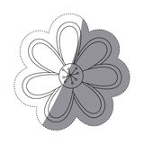 Figure flower icon image Royalty Free Stock Photography