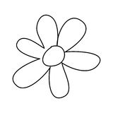 Figure flower with oval petals icon Stock Photos