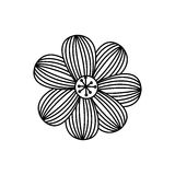 Figure flower with oval petals icon. Illustraction design Stock Image