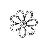 Figure flower with oval petals icon Stock Photo