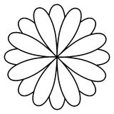 Figure flower with petals icon. Illustraction design image Royalty Free Stock Image