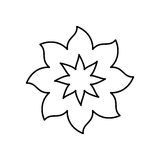 Figure flower with pointed petals icon Royalty Free Stock Image