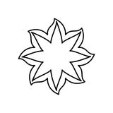 Figure flower with pointed petals icon Royalty Free Stock Images