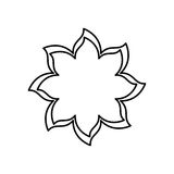 Figure flower with pointed petals icon Stock Photo