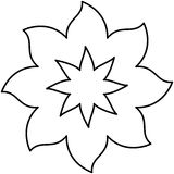 Figure flower with pointed petals icon. Illustraction design Stock Photos