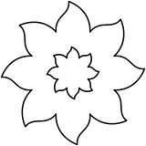 Figure flower with pointed petals icon Stock Photography