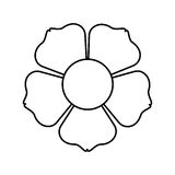 Figure flower with squre petals icon Stock Image