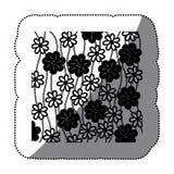 Figure flowers background icon. Illustraction design Royalty Free Stock Photo