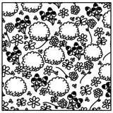 Figure flowers background icon. Illustraction design image Stock Photography