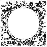 Figure flowers background with white emblem icon. Illustraction design Stock Image