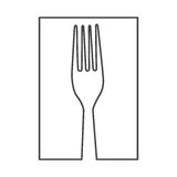 Figure fork cutlery icon Royalty Free Stock Image