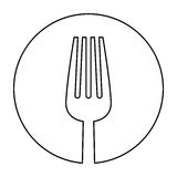 Figure fork icon image design Stock Images
