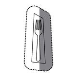 Figure fork picture decorative icon Stock Image