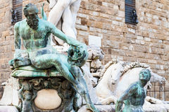 Figure of fountain of neptune close up Royalty Free Stock Photo