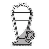 Figure frappe glass icon design Stock Image