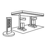 Figure fuel station icon image Royalty Free Stock Images