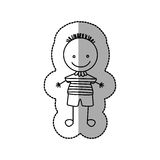 Figure funny boy icon Royalty Free Stock Photo